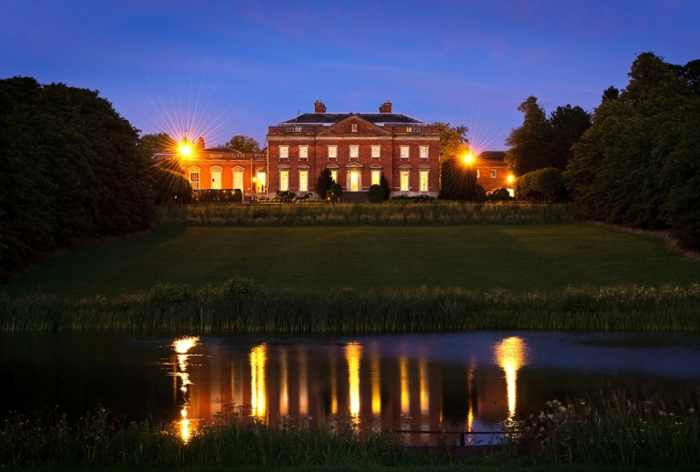 Kelmarsh Hall by night