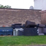 Dumped fly tip couch